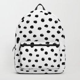 Polka Dots Black and White Backpack