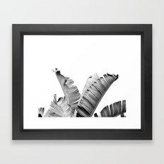 TROPICAL VIBE - black and white Framed Art Print