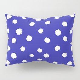 Hand-Drawn Dots (White & Navy Blue Pattern) Pillow Sham