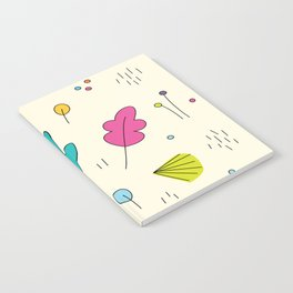 leaves and colors in the forest Notebook
