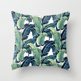 Banana leaves Throw Pillow
