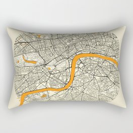 London Map Moon Rectangular Pillow