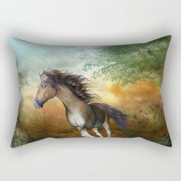 Beautiful brown horse Rectangular Pillow