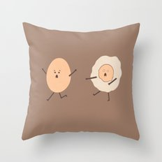 Dawn Of The Egg Throw Pillow
