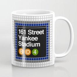 subway yankee stadium sign Coffee Mug