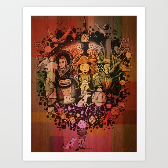 Day Dreaming Wood Pannel Art Print