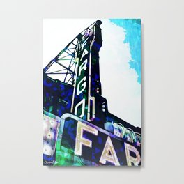Blue Fargo Theatre Metal Print
