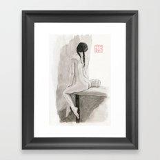 An Artist by the Window Framed Art Print