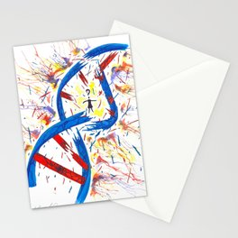 Orphan Black - Corrupted DNA Watercolor (Original Artwork Print) Stationery Cards