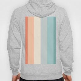 striped color pattern - red , orange, grey, green, Hoody