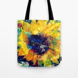 Sunflower Batik Tote Bag