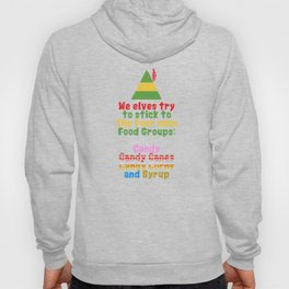 The Four Main Food Groups - Elf Quotes - Christmas Xmas design Hoody