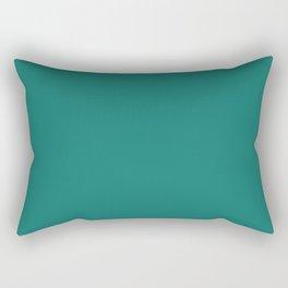 Pine Green Rectangular Pillow