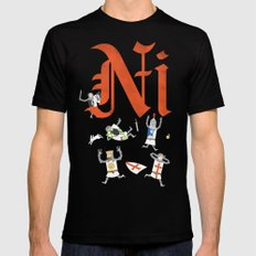 Ni! Black LARGE Mens Fitted Tee