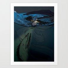 Abaia The Great Eel Art Print