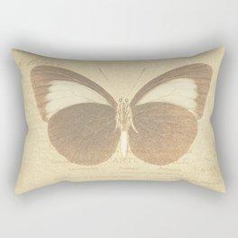 Vintage Paris Butterfly Rectangular Pillow