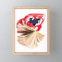 Book Dress Framed Mini Art Print