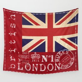 Union Jack Great Britain Flag Wall Tapestry