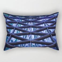 BLUE GLASS ROOF Rectangular Pillow
