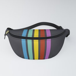 Trendy Abstract Rainbow Stripes 01 Fanny Pack