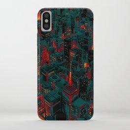 Night city glow cartoon iPhone Case
