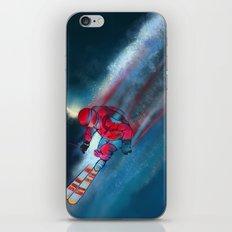Extreme skiing illustration iPhone & iPod Skin