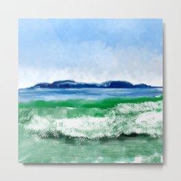 Blue to Emerald Waters Metal Print
