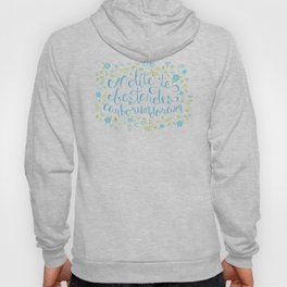 Don't Let the Bastards Grind You Down - Blue Floral Hoody