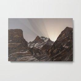 Shards of Light- Nepal Metal Print
