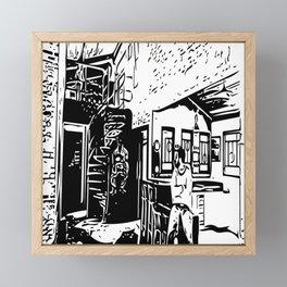 Black and white portrait Framed Mini Art Print