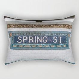 Spring Street Subway Rectangular Pillow