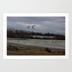 Kite Skiing Art Print