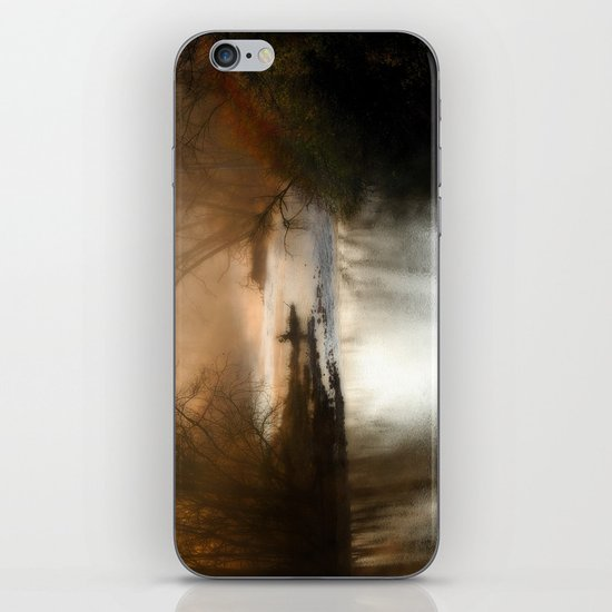 Foggy Alum Creek on a chilly fall morning iPhone & iPod Skin