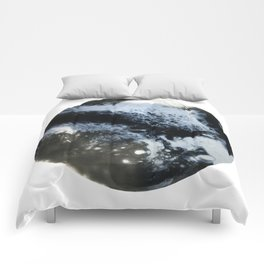 Moon / Black and white fluids Comforters