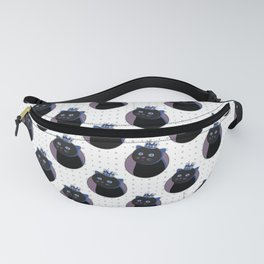 His Black Sweet Cat Majesty Fanny Pack