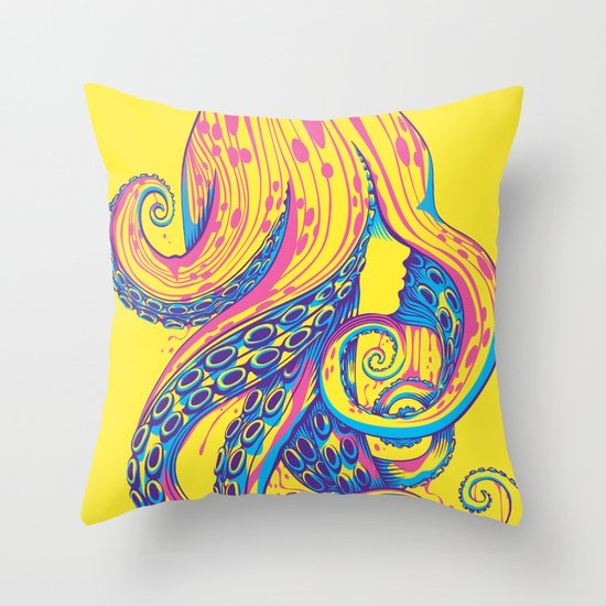 Curls Throw Pillow