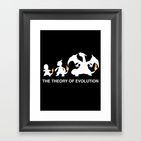 The Theory of Evolution  Framed Art Print