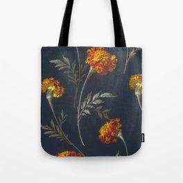 Vintage Marigolds Tote Bag