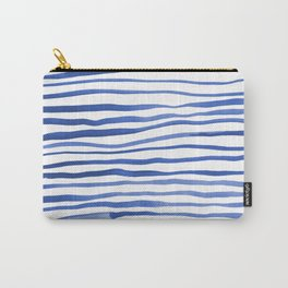 Irregular watercolor lines - blue Carry-All Pouch