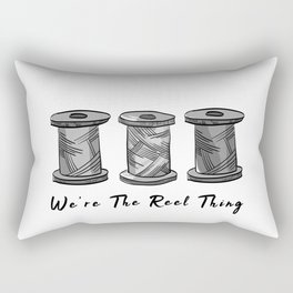 Vintage We Are The Real Reel Thing Funny Pun Sewing Rectangular Pillow