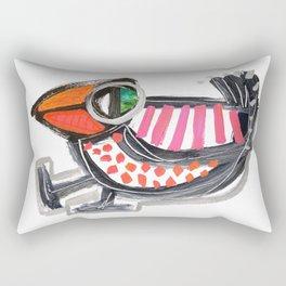 Dancing Bird Rectangular Pillow