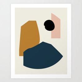 Shape study #1 - Lola Collection Art Print