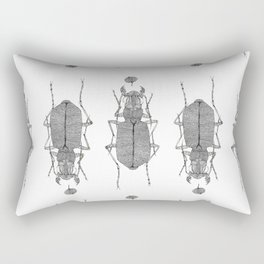 Black and white tiger beetle Rectangular Pillow