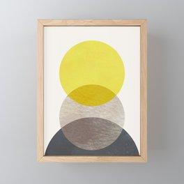 SUN MOON EARTH Framed Mini Art Print