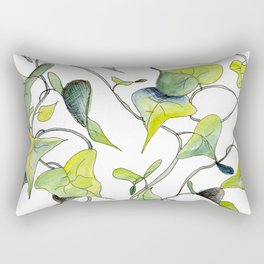 Blue and Green Vines, Pattern Rectangular Pillow