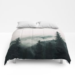 Over the Mountains and trough the Woods -  Forest Nature Photography Comforters