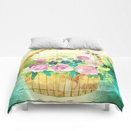 Floral Basket Comforters