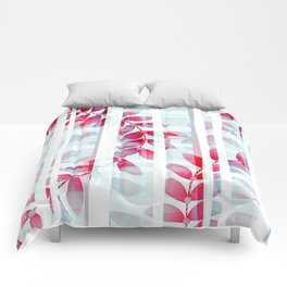 Abstract Foliage Pattern Comforters