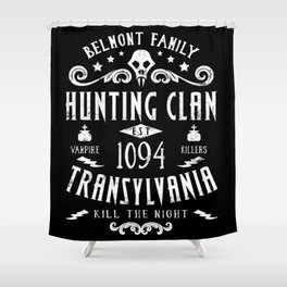 Geeky Gamer Chic Castlevania Inspired Belmont Family Hunting Clan Shower Curtain