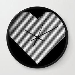 heart / black & white / Wall Clock